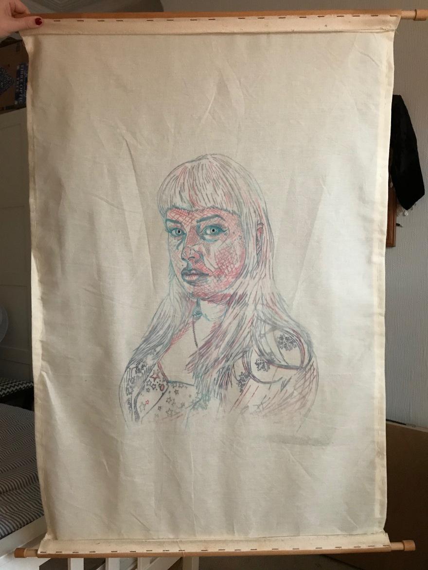 Sorrell Kerrison - Sketch layer - Self Portrait